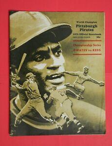 1972 MLB Program Cincinnati Reds vs Pittsburgh Pirates Scorebook Score Card