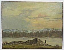 Vintage Rudolf Conrad Erich Allwardt Oil Landscape Painting Original Signed RCEA