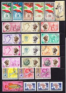 Burundi. useful mix,  see 2 scans  L5391