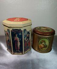 Vintage 1980's Collectible Coca-Cola Ladies Advertisement Tin Containers Bundle