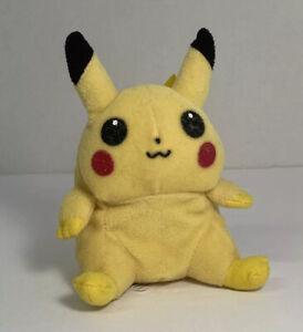 "1998-Hasbro Nintendo Pokemon PIKACHU 5"" Beanie Plush Tag Stuffed Toy"