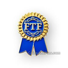 Premier à trouver (fff) rosette geocaching pin badge