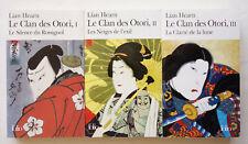 Lot Lian Hearn - Le Clan des Otori Tomes 1 à 3 - Folio TBE
