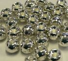 """TUNGSTEN FLY TYING BEADS SILVER 4.0 MM 5/32"""" 100 COUNT"""