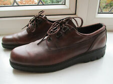 Mens ECCO brown leather casual laced shoes U.K. 6.5/7 (EUR40)