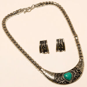 Turquoise Necklaces Earring 925 Sterling Silver Necklace Turquoise Jewelry