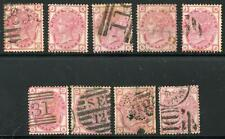 GREAT BRITAIN QUEEN VICTORIA SC# 61 PLATES 11-12, 14-20 USED AS SHOWN