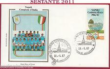 ITALIA FDC FILAGRANO GOLD NAPOLI CAMPIONE D'ITALIA 1987 ANNULLO TORINO Y153
