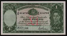 One Pound Australian Banknote 1942 Armitage McFarlane R30a J/12