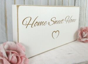 House Warming Gift Sign Plaque Gift Home Sweet Home Vintage Shabby & Chic