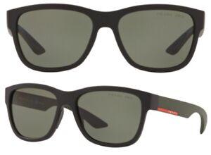 Prada Sport Herren Sonnenbrille PS03QS 1BO-5X1 57mm Lifestyle polarisiert S2 H
