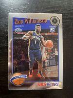 Zion Williamson 2019-20 NBA Hoops Premium Stock Base Tribute RC #296 Pelicans B