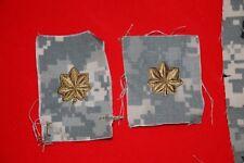 US ARMY ISSUE MAJOR RANK BADGES CLOTH ACU COMBAT UNIFORM PAIR ORIGINAL