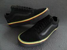 Vans Men 7.5 / Women 9 Rasta Old Skool Black Suede Lo Skate Sneaker Jamaica