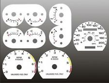 1990-1993 Ford Mustang 200kmh METRIC Dash Cluster White Face Gauges 90-93