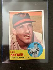 1963 TOPPS #543 RUSS SNYDER HIGH #  *ORIOLES* *KRB-10675