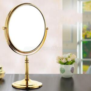 8 Inch Vanity Countertop Makeup Mirror Dual Sides 3x Magnifying Gold Finish
