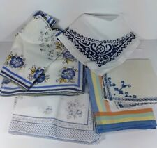 Lot of 7 Vintage Mixed Lady's/Men's Embroidered/Printed Handkerchiefs Hankies