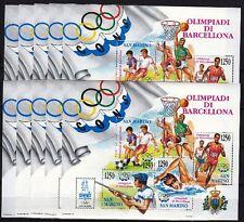 10 x San Marino 1992 Block 15 ** Olympiade Barcelona