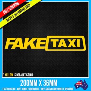 FAKE TAXI CAR Sticker Decal JDM DRIFT FUNNY STICKER NOTEBOOK WINDOW