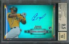 2012 Bowman Sterling YOENIS CESPEDES Rookie Refractor A's #/199 BGS 9.5 Auto 10