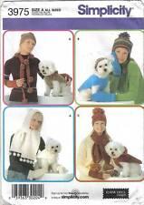 Simplicity Pattern 3975 Dog Coats & Misses Accessories 4 Styles 3 Sizes Uncut