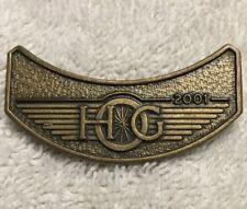 Collectible Hog Harley Motorcycle Group 2001 Wing Rocker Lapel Hat Pin #K28