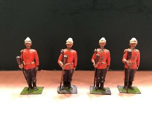 Britains: Extremely Rare Lancaster Regt Gunners From Set 148. Pre War c1910