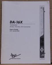 Apogee DA-16X 16-channel D/A Converter Original Manual