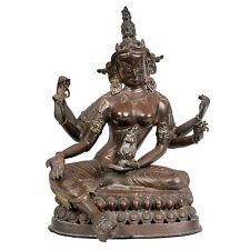 Nepal 20. Jh. Große - A Nepalese Bronze Figure Of Tara - Scultura Népalaise
