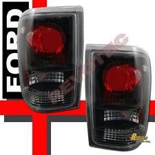 1993-1997 Ford Ranger XL XLT STX Pickup Black Tail Lights 1 Pair