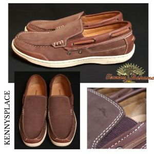 TOMMY BAHAMA Leather & Suede Moccasins UK13.5 US14 EU47 *NEW STOCK* First Mate