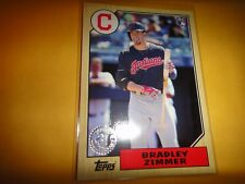 BRADLEY ZIMMER, ROOKIE CARD, CLEVELAND INDIANS, 2017 TOPPS UPDATE US87-46