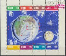 DDR 926-933 Feuille miniature oblitéré 1962 spatiale (8844037