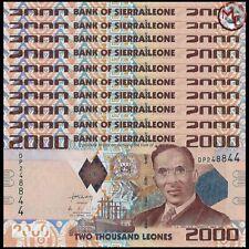 Sierra Leone - 2000 Leones 2010 - Pick- 31 - Set 10 PCS - UNC