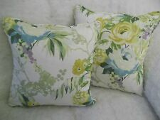 """INDONESIA BY PRESTIGIOUS NEW 100% COTTON FABRIC 1 PAIR OF 16"""" CUSHION COVERS"""