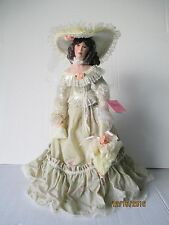 """Paradise Galleries Ashley 21"""" Musical Porcelain Victorian Doll by Patricia Rose"""