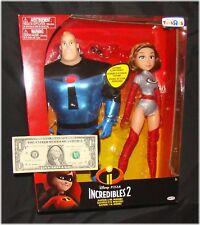 "Incredibles 2 Mr INCREDIBLE & ELASTIGIRL 12"" Figures Toys R Us Exclusive TRU"