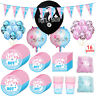 Boy Or Girl Paper Plates Cups Straws Gender Reveal Party Tableware Baby Shower