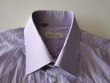 Ermenegildo Zegna Design Herren Hemd Langarm Violett Gestreift KW40 TOP!