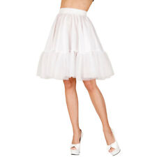 Universeller Damen Unterrock knielang Trachtenmode Petticoat Kostüm-Zubehör weiß