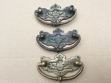 3 Antique Brass Drawer Handles