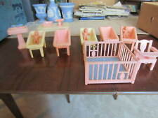 New ListingLot 13 Renwal Vtg dollhouse furniture Hospital Nursery Babies Scale Table Sink