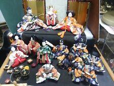 Japanese Kimekomi Doll Imperial Court set of 13