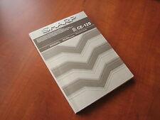 NEW Vintage Sharp CE125 LCD pocket computer printer instruction manual (english)