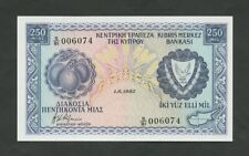 More details for cyprus  250 mils  1982  krause 41c  uncirculated  banknotes