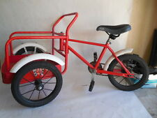 Vintage Cargo Front Load Childs Tricycle Red/White