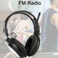 TR101 FM Headphone Radio Wireless Headset Earphone Receiver Conference Radios