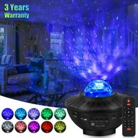 LED Starry Night Light Sky Galaxy Projector Lamp 3D Ocean Wave Star Light Party