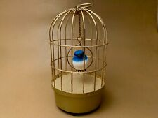 Rare Vintage Saezuri Singing Bird In Cage- works great! Free Shipping!
